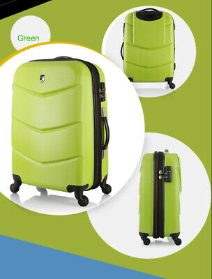 "D37 28"" ABS PC Password Lock Portable Case Trolley Travel Bag Suitcase S"
