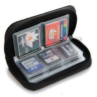 Micro SD XD Card Case Memory Card Storage Carrying Black Case Holder Wallet Fast