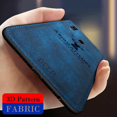 For Huawei P Smart 2019/P Smart Hybrid Silicone Deer Cloth Case Shockproof Cover