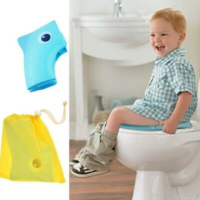 Portable Travel Potty Safe Seat Foldable Baby Kids Toddler Toilet & Storage bag