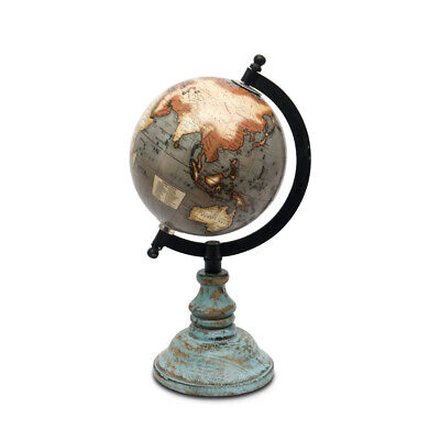Pastel Country Wooden Globe 5 Inch office & table Decor