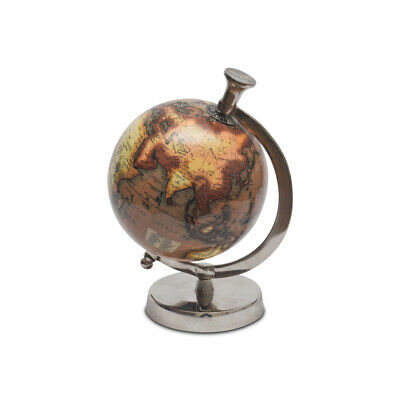 Pastel Country Metal Globe 5 Inch office & table Decor