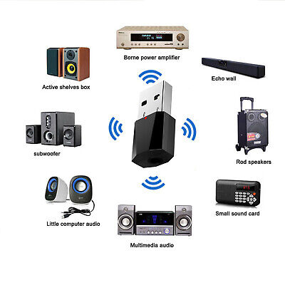 Bluetooth 4.2 HI-FI Ricevitore & Trasmettitore 3.5MM Audio TV MP3 PC Adattatore