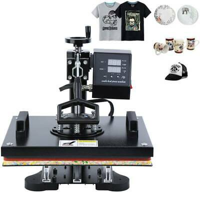 "8 in 1 Heat Press Transfer T-Shirt Mug Cap Sublimation Printer Machine 12""x15"""