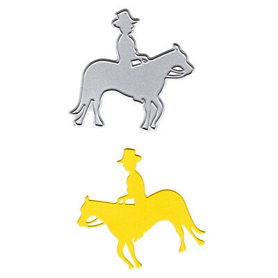 Man Riding Horse Metal Cutting Dies Stencils for DIY Cards Scrapbooking Decor ^S