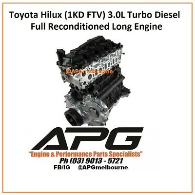 TOYOTA HILUX / Prado - 1Kd Ftv D4D (3 0L Turbo Diesel) Full Reconditioned  Engine