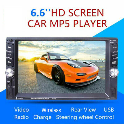 7651D 6.6 Inch Car MP5 Player Car Stereo MP5 MP3 Player Radio Wireless USB AUX