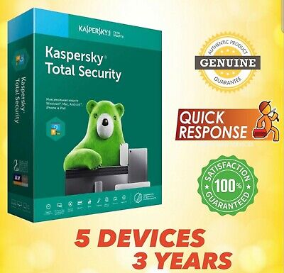 Kaspersky Total Security 2020 Antivirus - 5 Pc | 5 Device | 3 Year