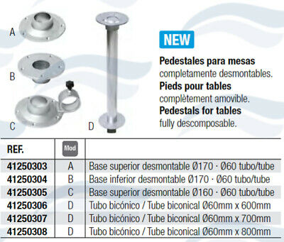 Pied De Table Aluminium Ø 60 Mm
