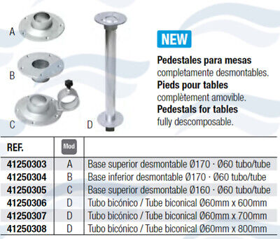 Pied De Table Aluminium Ø 80 Mm
