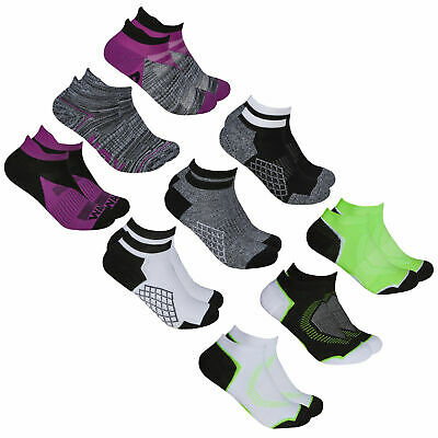 Women's Ladies Ankle Socks Running Trainer Liners Sports Gym 9 Pairs Size 4-8 UK