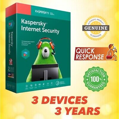 KASPERSKY INTERNET SECURITY 2019 ANTIVIRUS - 3 PC | 3 YEAR | For Windows