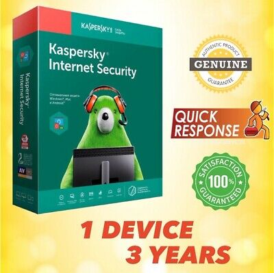 Kaspersky Internet Security 2019 Antivirus - 1 Pc | 3 Year | For Windows