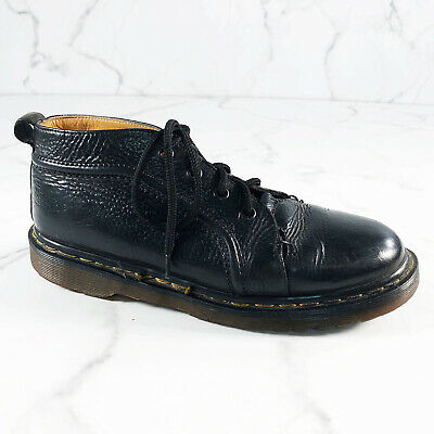 Vintage Dr Martens Monkey Boots 7 US Mens 8 Black Pebbled Leather Ankle England