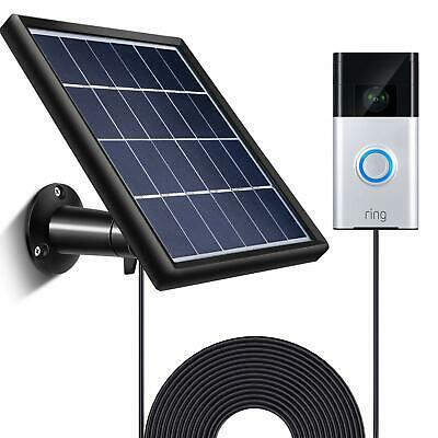 Ring Video Doorbell Solar Panel Charger Secure Wall Mount Weather Resistant