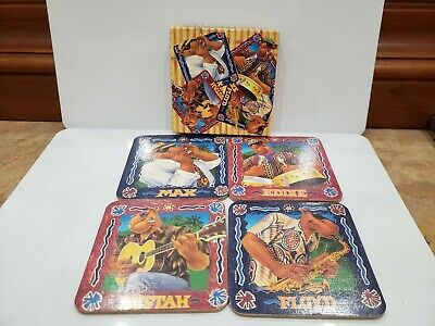 Camel's Cigarettes Joe's Beach Club Coaster Set / 4 1993 Floyd Max Eddie Bu.