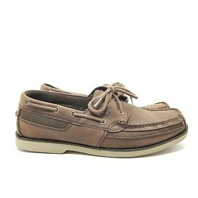 TIMBERLAND CLASSIC MEN'S 2 eyes Gray Denim Boat Shoes Size