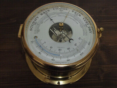 Dekoratives Altes Schiffs-Barometer Von Schatz,Made In Germany  #7586