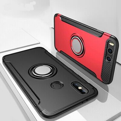 For Xiaomi Mi Max 3 Mix 2 Note 3 A1 A2 Ring Holder Shockproof Armor Case Cover