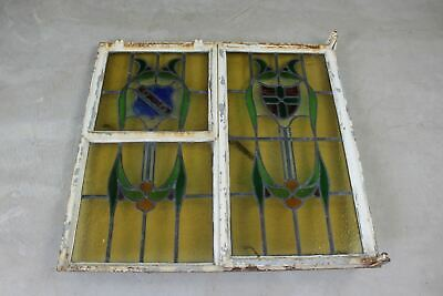 Early 20th Century Metal Frame Stained Glass Window