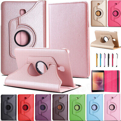 Folio Rotating Leather Case Cover For Samsung Galaxy Tab A T380 T350 T580 S5e S4