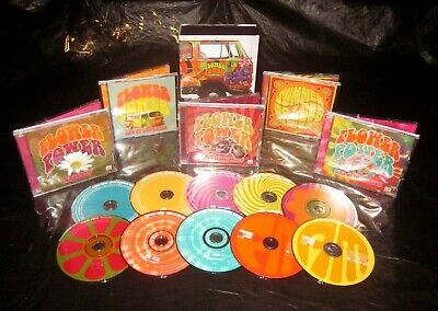 Nice! Time Life 10 CD Box Set Flower Power 60s 70s Sounds Of Woodstock Era