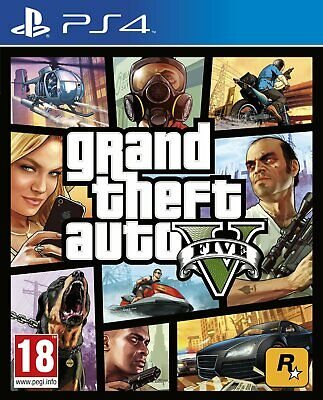 PS4-Grand Theft Auto V (5) /PS4 GAME NUOVO