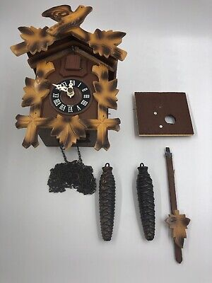 Vintage German Black Forest Regula Cuckoo Clock Birds Cross *Detailed Pictures*