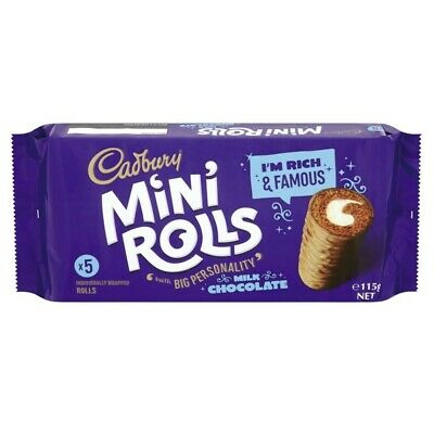 Cadbury Milk Chocolate Mini Rolls 5 pack 115 gram