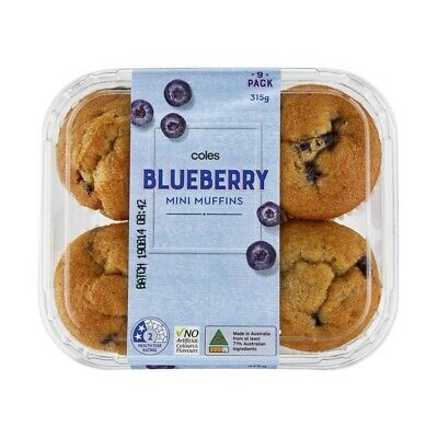 Coles Blueberry Mini Muffins 9 Pack 315g