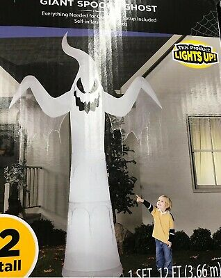 12 FT Halloween Airblown Inflatable Lighted Ghost Haunted House Prop Yard Decor