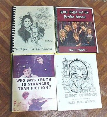Vintage Fanzine Collection Tv Shows Mixed Themes Lot Of 4 Free Shipping! Lot 111