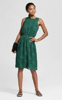 1ec60f64316d A New Day Burnout Floral Print Dress Anthropologie Small New! Emerald