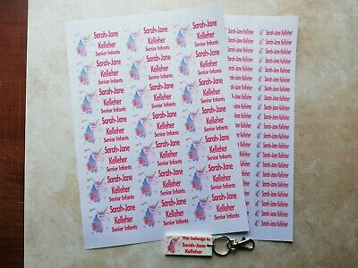 Personalised School Book / pencil stickers,iron on - ANY image & name