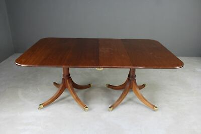Brights of Nettlebed Regency Style Mahogany Extending Dining Table Quality Repro