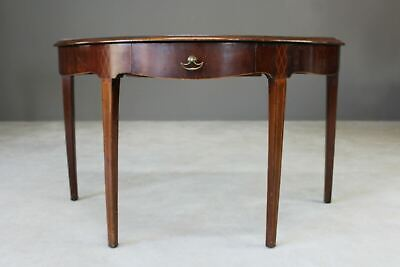 Antique Edwardian Mahogany Demi Lune Side Occasional Console Hall Table