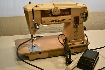 Vintage Singer #401A Slant-O-Matic Heavy Duty Direct Metal Drive Sewing Machine
