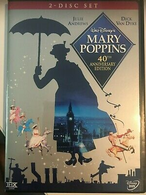 Mary Poppins 40th Anniversary Edition 2-Disc Set (DVD, 2004)