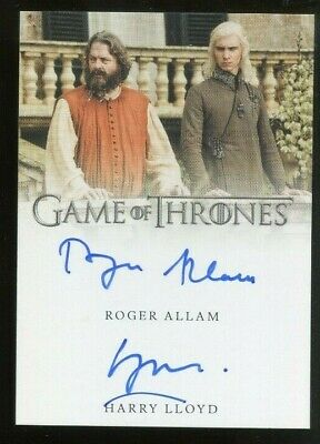Game of Thrones Inflexions DUAL AUTO - Roger Allam & Harry Lloyd