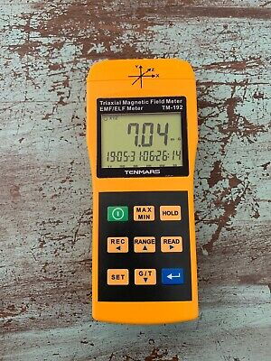 Tenmars TM-192 3-axis EMF Meter Magnetic Field Meter with Data Logger 30Hz t...