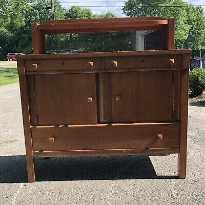 Antique Mission/Arts and Crafts Style Oak Sideboard or Buffet