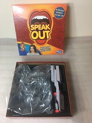 Hasbro Speak Out Game-Brand New Ages 16+ 4-10 players (With 10 mouthpieces)
