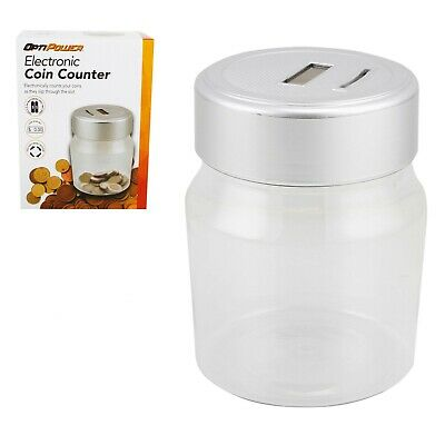 Electronic Coin Counter Machine Money Counting Box Jar Bank Money Saving