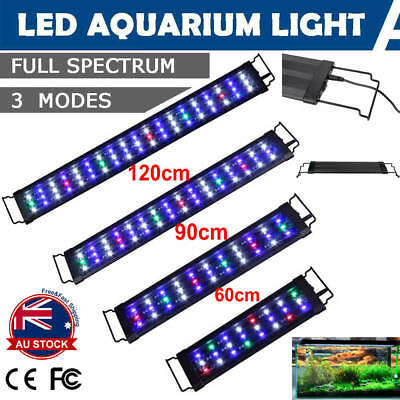 60-90-120CM Aquarium LED Lighting 2ft/3ft/4ft Marine Aqua Fish Tank Light AU