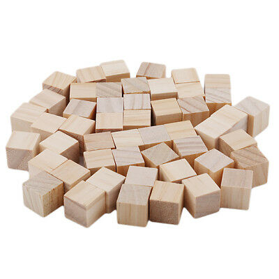 34 Inch Unfinished Wood Blocks Square Pieces Craft Supply Cube