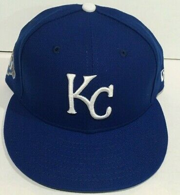 save off 8da55 06f51 NEW FITTED 2018 KANSAS CITY ROYALS 50th ANNIVERSARY ON FIELD GAME HAT  59FIFTY