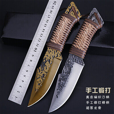 7CR17MOV Fix Blade Knife Hand-forged High-hardness Outdoor Self-defense Knife