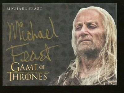 Game of Thrones Inflexions Gold AUTO/Autograph - Michael Feast as Aeron Greyjoy