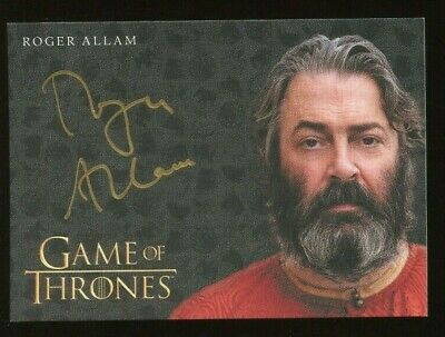Game of Thrones Inflexions Gold AUTO/Autograph - Roger Allam as Magister Illyrio