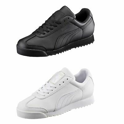 Puma Roma Basic Trainers Juniors Boys Shoes Sneakers Kids Footwear